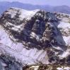 Pico Ras desde el pico Toubkal Atlas Marruecos